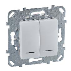 ДВУХклавишный переключатель (СХ.6+6) с индикаторной лампой