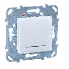 Двухполюсовый одноклавишный выключатель 16A с контрольной лампой