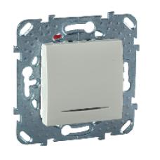 Одноклавишный переключатель (СХ.6) с индикаторной лампой  бежевый