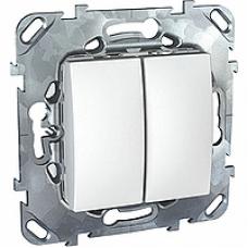 Двухклавишный выключатель (СХ.5) белый