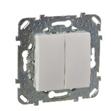 Двухклавишный выключатель (СХ.5) бежевый
