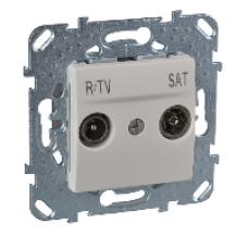 R-TV/SAT розетка оконечная бежевый zamak