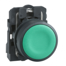 Кнопка 22 мм зеленая с возвратом