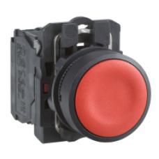Кнопка 22 мм желтая с возвратом