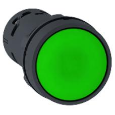 Кнопка 22 мм зеленая с возвратом 1NO