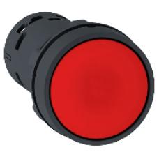 Кнопка 22 мм красная с возвратом 1NC