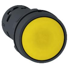 Кнопка - пружинный возврат - жёлтый - НО + НЗ